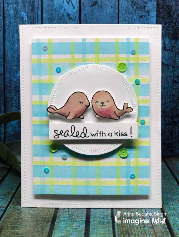 Make A Valentine S Card With A Blue And Green Color Scheme