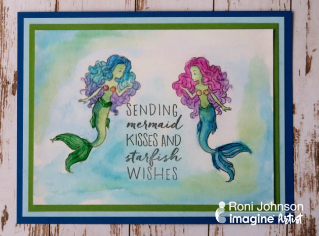 Use a Mirror Technique to Create a Cute Mermaid Card