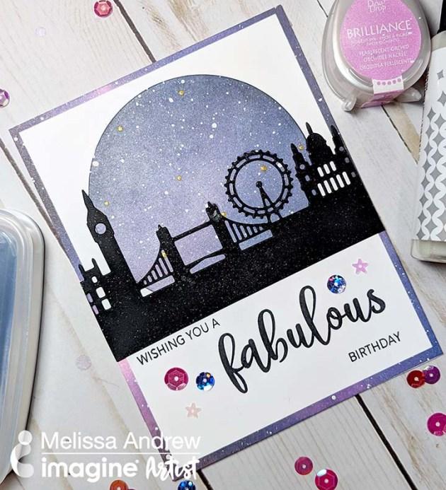 Create a London Night Sky Birthday Card