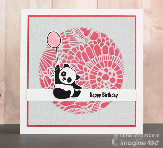 Use a Beautiful Coral Color on These Cute Panda Birthday Cards