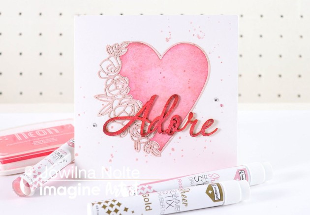 Learn How To Use Rose Gold Shimmer Stix For A Beautiful Card