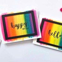 Create a Rainbow Background with Memento Markers and Shimmer Stix