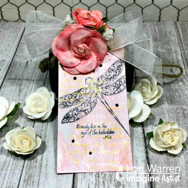 See How to Create Rose Gold Theme Gift Tag