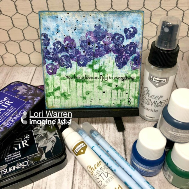 See a Stamping Technique Inspired by Impressionism