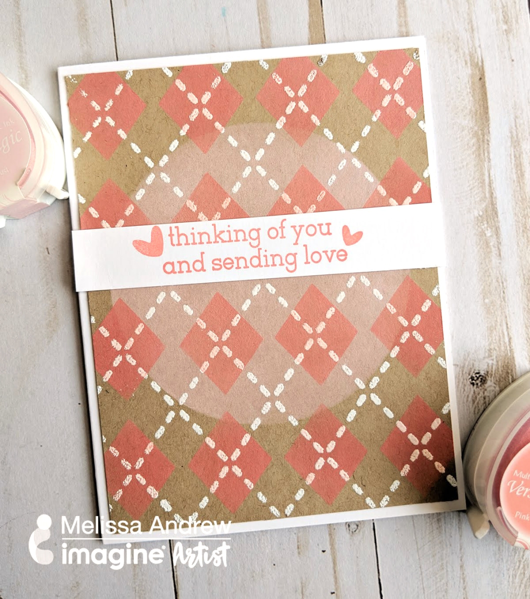 See How to Create a Soft Plaid Print on Kraft Paper