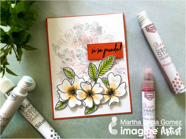 See How to Stencil with Sheer Shimmer Stix Rose Gold and Silver