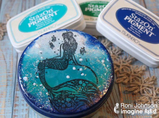 See How To Upcycle A Tin With Stazon Pigment Ink