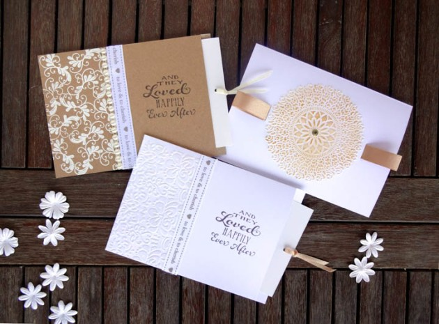 Learn How To Make 3 Matching Wedding Invitations