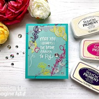 StazOn Pigment ink is Perfect for Stamping on Vellum