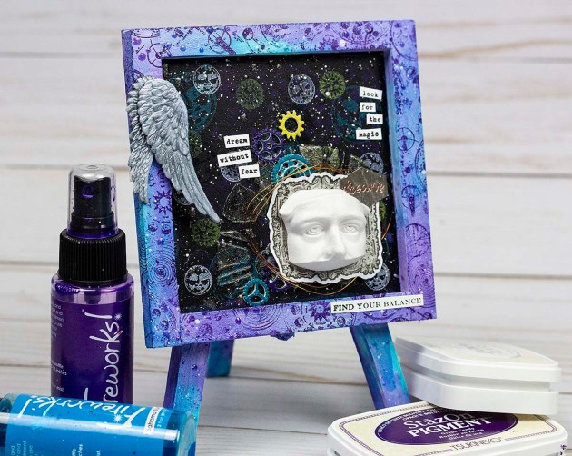Use StazOn Pigment to Create a Beautiful Mixed Media Canvas