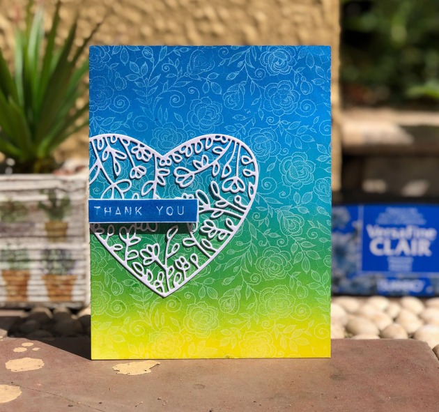 Learn How to Create a Beautiful Thank You Card with Ink Blending