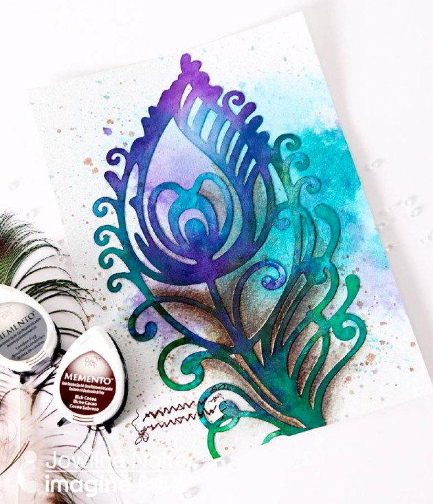 Make a Peacock Feather Design with All-Purpose Inks