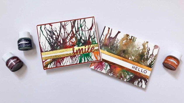 Learn to Create a Card with All-Purpose Ink Blowing