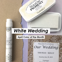 April Color of the Month is White Wedding