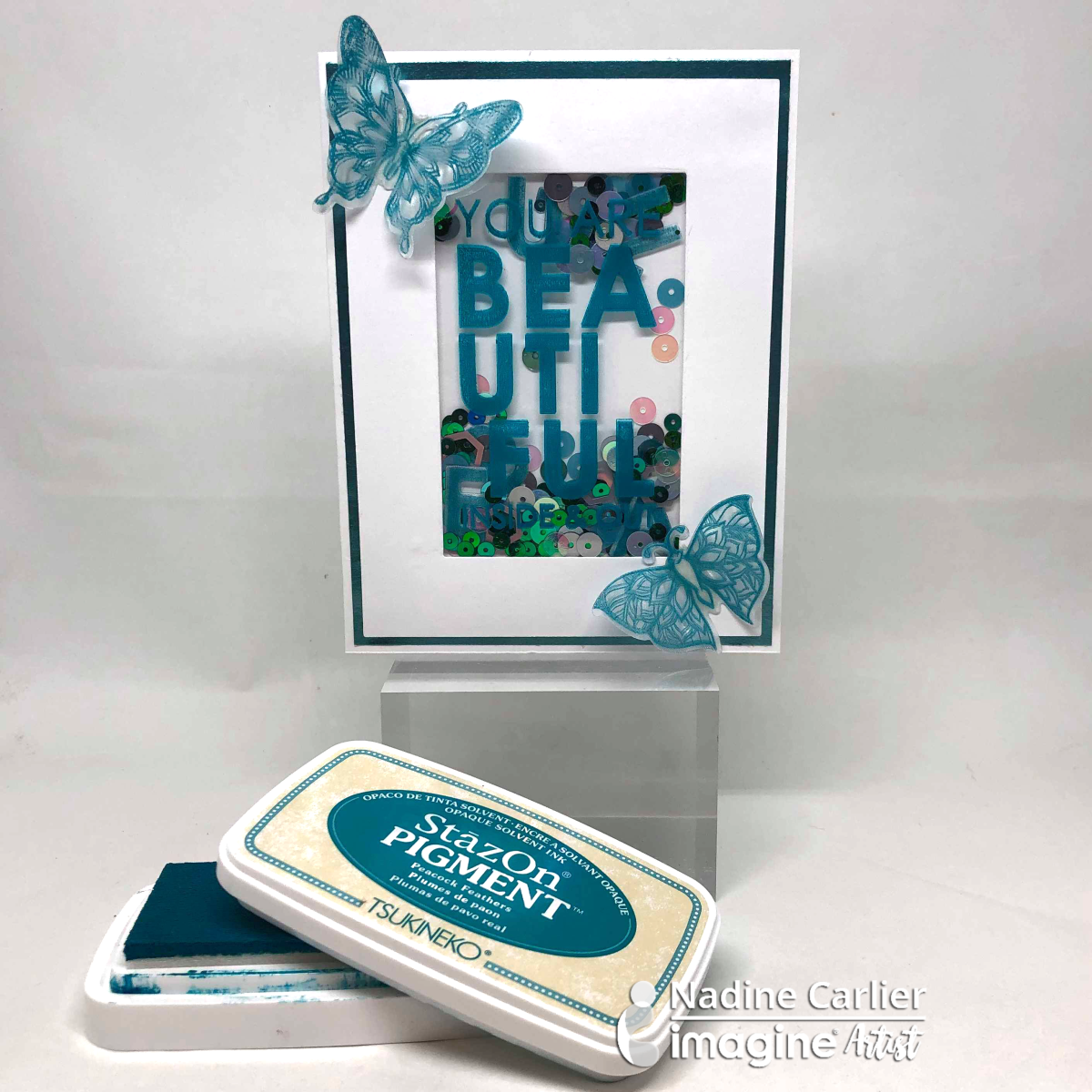How To Make A Shaker Card Using StazOn Pigment Ink