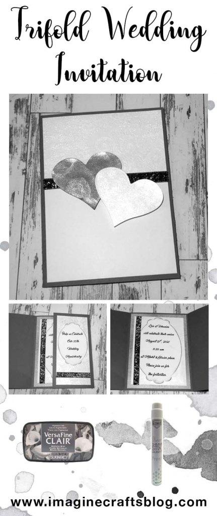 Learn how to Make a Tri-fold Wedding Anniversary Invitation