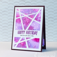 See How To Make A Birthday Card With A Dynamic Look