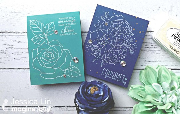 See How to Use Instant Drying Pigment Ink for Wedding Invitations
