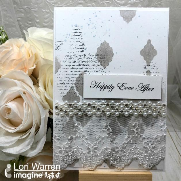 Create an Easy Mixed Media Inspired Wedding Card