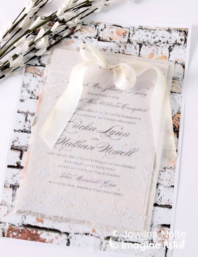 See How to Create a Layered Wedding Invitation
