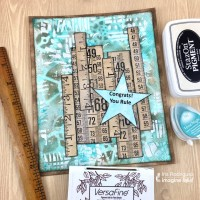Use Different Inks to Make a Congrats Graduation Card