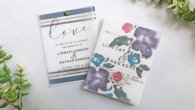 Learn How to Create a Vellum Overlay for Wedding Invitations