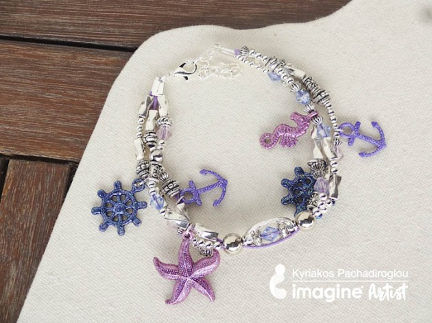 Learn How To Color Jewelry Charms With Embossing Powder