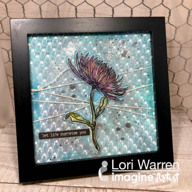 Create a Mum Flower Home Decor Piece with Vertigo and StazOn Pigment