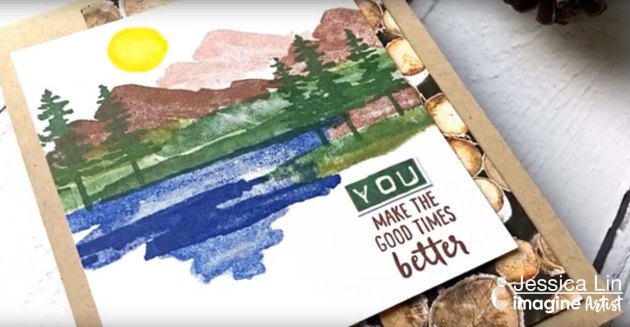 Create a Father's Day Scenic Card with VersaFine Clair Inks