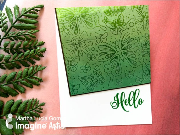 Learn An Elegant Embossing Resist And Blending Technique