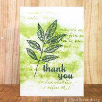 Create a Watercolor Effect for a Thank You Card