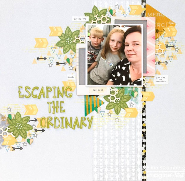 Learn How To Arrange A Scrapbook Page With The Imagine Craft Mat