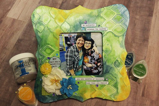 Learn How to Collage a Picture Frame with VersaMagic Ink