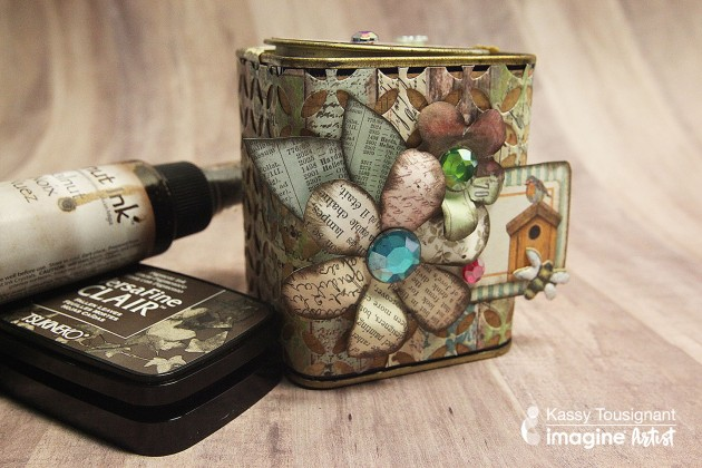 See How to Upcycle a Tea Tin with Walnut Ink