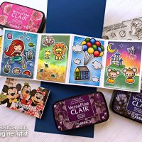 Create a Rainbow Blended Disney Theme Keepsake with VersaFine Clair