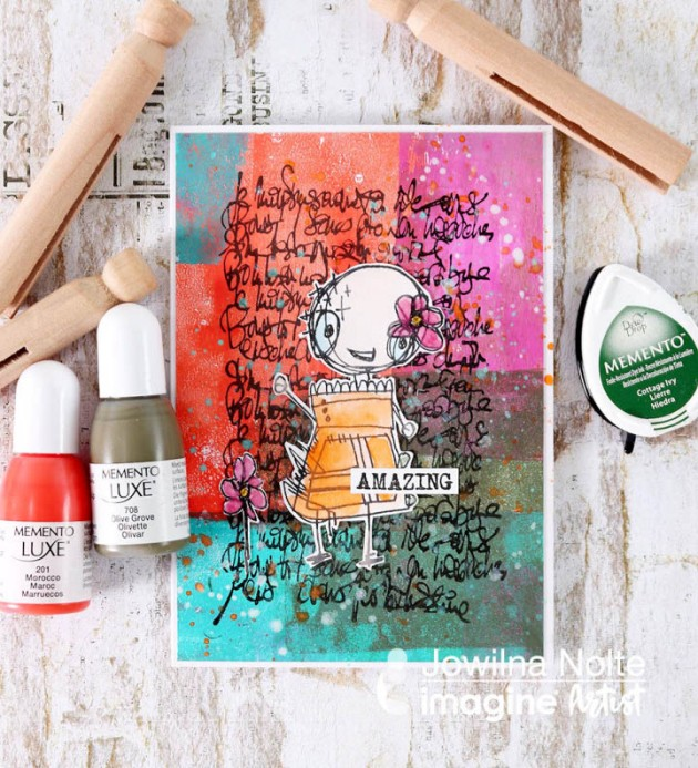 How to create Gelli Printed backgrounds with Memento Luxe inkers