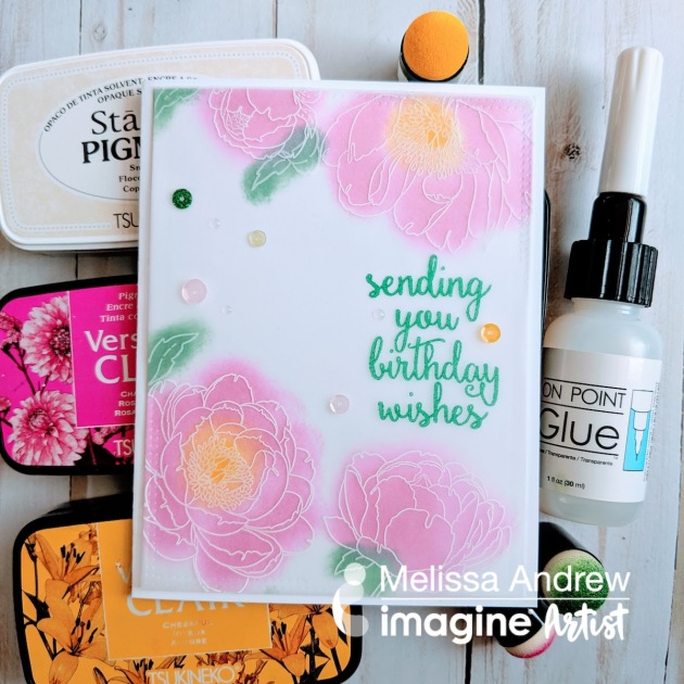Learn Beginner Stamping on Vellum with No Line Coloring