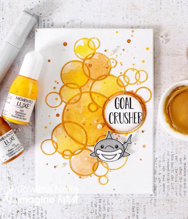 Learn How To Create A Color Wash Effect On A Card with memento luxe inkers
