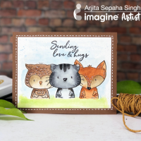 Learn How to Create a Cute Woodland Creatures Card with Masking and Watercoloring
