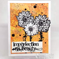 Using Brilliance Ink To Create A Mixed Media Card