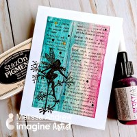 Creating an irRESISTible Background with StazOn Pigment ink for Lavinia Stamps
