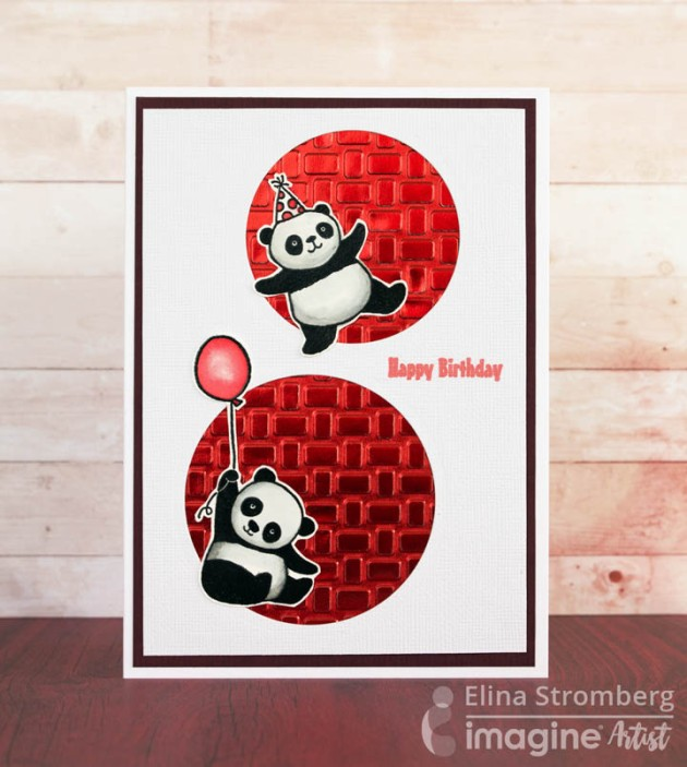 See How to Make a Happy Birthday Panda Card with Rinea Foil