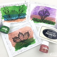 Repurpose Old Tea Bags into a Beautiful Garden Theme Card