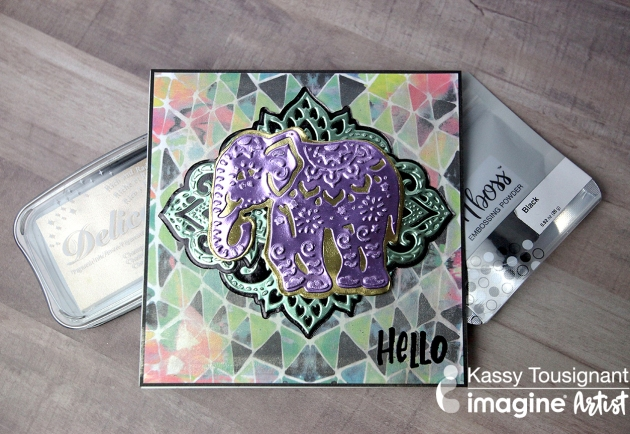 See How to Make a Beautiful Purple Elephant Greeting Card with Rinea Foil