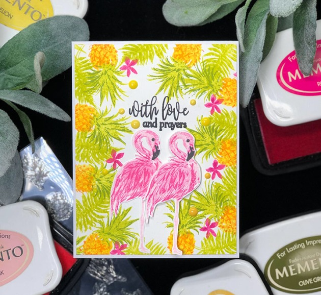 Learn How to Stamp Layered Tropical Themes with Memento Ink