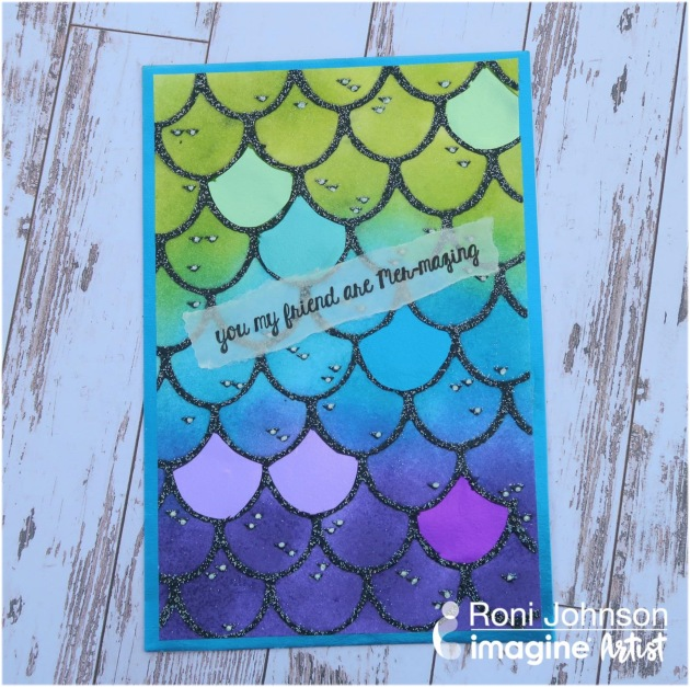 Create a Fun Mermaid Scale Friendship Card