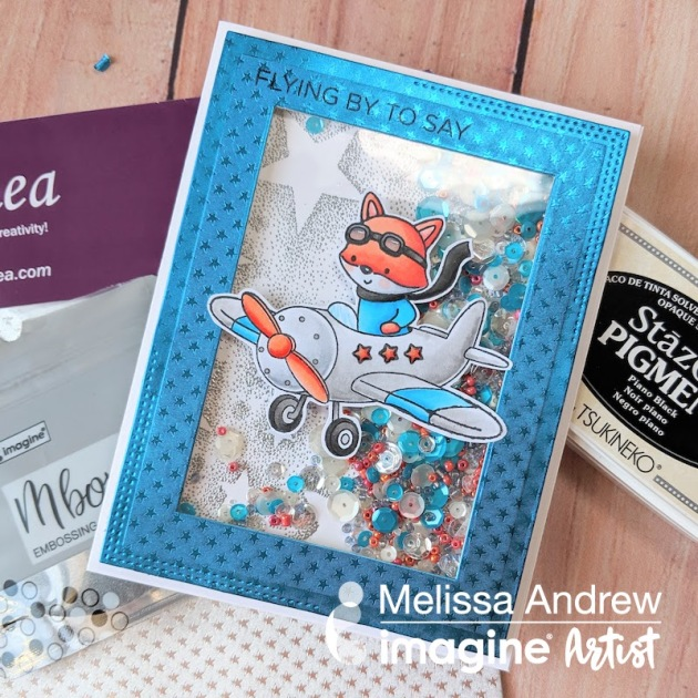 Learn to Create Shine with Silver MBoss and Rinea Foil Paper for a Shaker Card