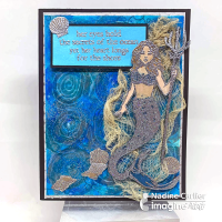 Mermaid Mixed Media Card Tutorial