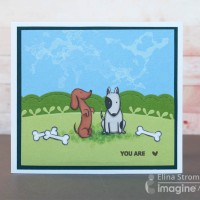 "Stamp and Color this Cute ""You Are Loved"" Dog Theme Card"