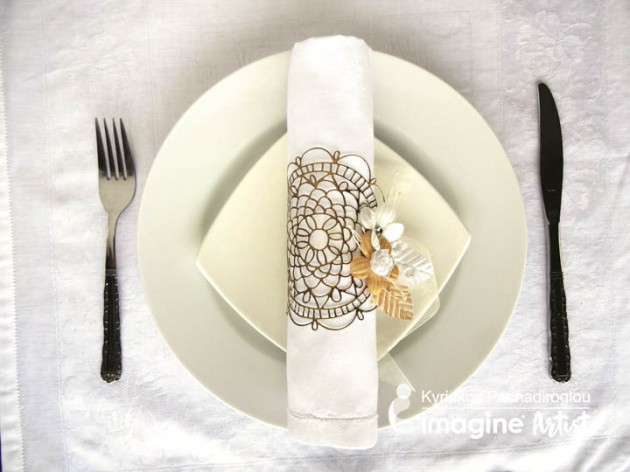 Learn How to Make a Napkin Ring from a Waffle Flower Dolly Die-cut
